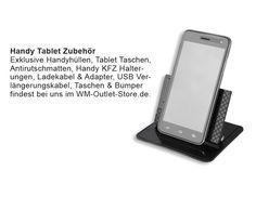Exklusive Handyhüllen, Tablet Taschen,  Antirutschmatten, Handy KFZ Halterungen, Ladekabel & Adapter, USB Verlängerungskabel, Taschen & Bumper findest bei uns im WM-Outlet-Store.de. Lasse Dich inspirieren!