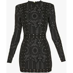 Lace-up knit mini dress | Women's knit dresses | Balmain ($3,050) ❤ liked on Polyvore featuring dresses, laced up dress, lace up dress, short dresses, mini dress and laced dress