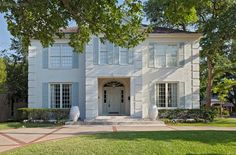 color scheme! white house with very light blue/gray/green shutters.