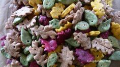 autumn leaf dog treats, see more at http://diyready.com/homemade-dog-treats-fall-feast
