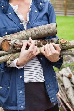 Follow TOH Landscaper Roger Cook's tips for seasoning firewood for easy-burning fires.   Photo: Maskot/Getty   thisoldhouse.com