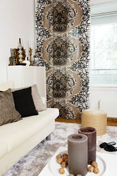 Mandariini curtain by Vallila