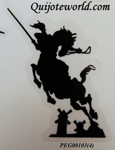 #Pegatina y adhesivo Don #Quijote de la Mancha - Quijoteworld, ideas para decorar. http://www.quijoteworld.com/quijote-decoraci%C3%B3n-tienda/papeleria-don-quijote/pegatina-y-adhesivo/