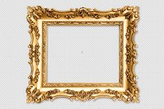 Baroque golden picture frame PNG by LiliGraphie on @creativemarket