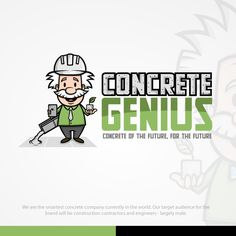 Freelance Projects Fun Genius Avatar and Logo Needed For Concrete Franchise by JairOs