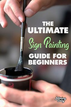 How To Learn Sign Painting Step-By-Step 2019 Lettering Daily How To Learn Sign Painting Step-By-Step 2019 Lettering Daily Ich Unverbesserlich obermeier Typografie The ULTIMATE sign painting guide for nbsp hellip Painted Letters, Hand Painted Signs, Wood Letters, Painting Tips, Painting Techniques, Painting On Wood, Learn Painting, Cuadros Diy, Diy Wood Signs