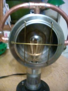 Industrial Steampunk Handmade Table Lamp
