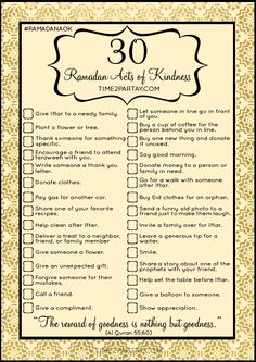 Ramadan Activity - Download, print, and share with your friends and family! Ramadan Free Printables - Ramadan Acts of Kindness #RAOK #Ramadan