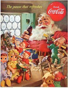 "Coca-Cola's Iconic Santa Claus Ads by Haddon Sundblom   Abduzeedo Design Inspiration Vintage ""Advertising, Flyers"" December 2013 Behance 2013"