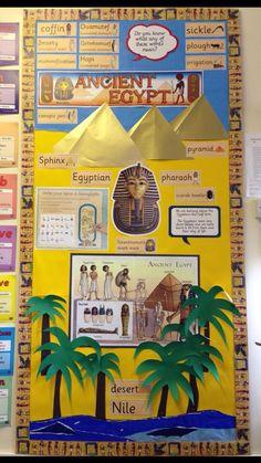 Egyptians Ancient Egypt Lessons, Ancient Egypt Activities, Ancient Egypt Crafts, Ancient Egypt For Kids, Egyptian Crafts, Ancient Egypt Display, World History Classroom, School Displays, Egypt Art