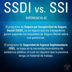 SSDI y SSI son dos diferentes programas y ambos son administrados por el Seguro Social. Vea, www.segurosocial.gov/espanol/librorojo/overview-dib-sp.htm