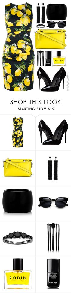 """""""Positano"""" by teryblueberry ❤ liked on Polyvore featuring Dolce&Gabbana, Fendi, Tom Ford, Alexander McQueen, Bliss Diamond, Illamasqua, Rodin and Chanel"""