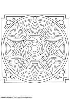 mandalas | Dibujo para colorear Mandalas 44