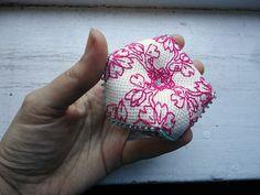 Sakura Biscornu Cherry blossom Flower needle cushion
