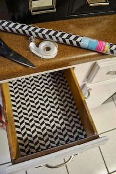 Line your drawers with inexpensive (non-seasonal) gift wrap.