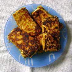 Tofu Empanado com Mostarda (vegan)
