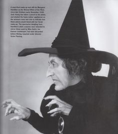 Notice the glasses! Yet another similarity between the Witch and Miss. The only time you can see the Witch wearing them in the apple orchard scene, when she is behind the tree. Wizard Of Oz Quotes, Margaret Hamilton, Wizard Of Oz 1939, Land Of Oz, Real Facts, Fun Facts, The Worst Witch, Yellow Brick Road, Wicked Witch