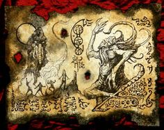 Items similar to REIGN OF CTHULHU Necronomicon Fragment larp Lovecraft monster outsider dark art on Etsy Call Of Cthulhu Rpg, Lovecraftian Horror, Beautiful Dark Art, Satanic Art, Demon Art, Occult Art, Gothic Art, Book Of Shadows, Art Journal Pages