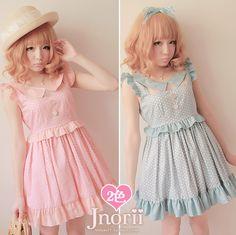 Sweet lolita princess royal BOBON 21 pink ruffled pleated sleeve gauze patchwork polka dot polka dot one-piece dress d0794