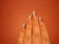 French V-tip.. smaller half in purple and other half in Zebra stripe