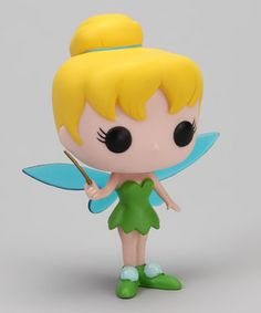 A soft and safe way to have a royally fun time is with this Disney-licensed Tinker Bell doll. With its vibrant vinyl construction and adorable, oversize head, this doll will be the jewel in the crown of any toy collection.