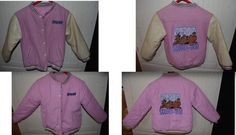 Unique rare reversible, Scooby Doo lined football jacket girl's size 6X $45