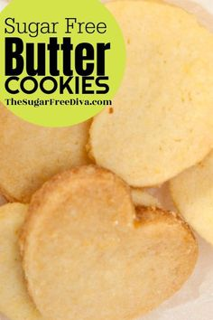 I love butter cookies! This recipe is for making homemade sugar free butter cookies! I love butter cookies! This recipe is for making homemade sugar free butter cookies! Sugar Free Deserts, Sugar Free Treats, Sugar Free Cookies, Sugar Free Recipes, Healthy Sugar Cookies, Sweet Recipes, Keto Cookies, Homemade Cookies, Diabetic Cookies