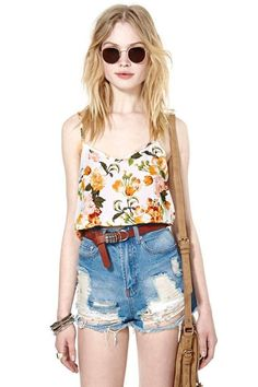 Bloomy Day Crop Top: Crop Tops, Cute Outfits, Clothes Makeup Hair, Top Nastygal, Summer Outfits, Womens Outfits, Dresses Clothes Outfits, Clothes Hair Makeup, Woman Outfits