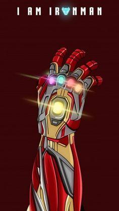 I am Iron Man Infinity Stones iPhone Wallpaper