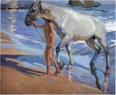 Washing the Horse, 1909 -  Joaquin Sorolla