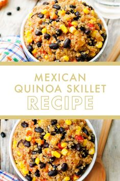 Looking to add a little zest to your life? This Zesty Mexican Quinoa Skillet is a must-have easy staple dinner recipe. It's gluten-free, dairy-free, and full of all the plant-based goodness your body craves. Whip this up in a pinch for a nourishing comfort meal the whole house will enjoy. My Recipes, Dinner Recipes, Healthy Recipes, Recipies, Danette May, Mexican Quinoa, Paleo Whole 30, Skillet Meals, Dairy Free