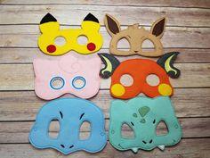 Pokemon Mask set Pretend Play Dress Up by CarriesHairPretties1