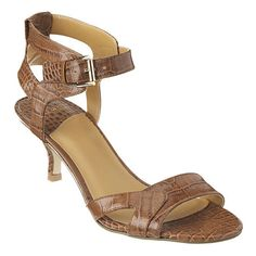 "cute street salsa shoes. Single sole 2 3/4"" sandal with adjustable ankle buckle closure."