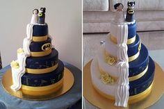 Batman Superhero Themed Wedding Cake Ideas