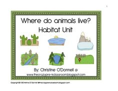 This 206 page unit is all about the different habitats that animals live in. There are 11 habitats represented with 12 animals each. For each habitat you have a matching board with the 12 animals in color and black and white. Each animal for all 11 habitats have 4 facts that are to be cut and glued along with a picture of the animal into the students Habitat facts booklet.