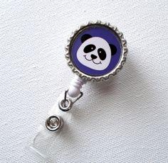 Purple Panda  Retractable Badge  Nursing Badge by BadgeShack, $6.00