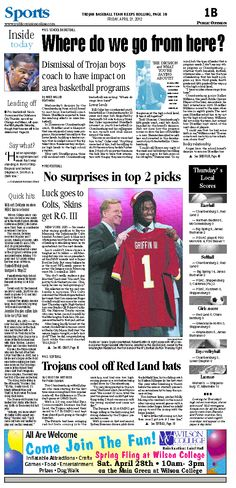 Front page of sports April 27