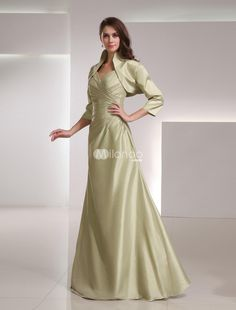 Shaping Sage Taffeta Elegant Mother of The Bride Dress. See More Mother of the Bride Dresses at http://www.ourgreatshop.com/Mother-of-the-Bride-Dresses-C928.aspx