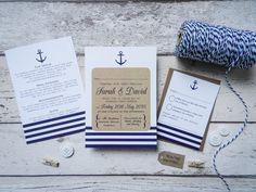Nautische Hochzeitseinladung Komplettset Hochzeit am von PaperFudge