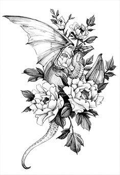 Baby Tattoos, Dope Tattoos, Pretty Tattoos, Beautiful Tattoos, Flower Tattoos, Body Art Tattoos, Small Tattoos, Tatoos, Dragon Sleeve Tattoos