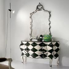 Black White Checkered Dresser Distressed Furniture Hand Painted Vanity