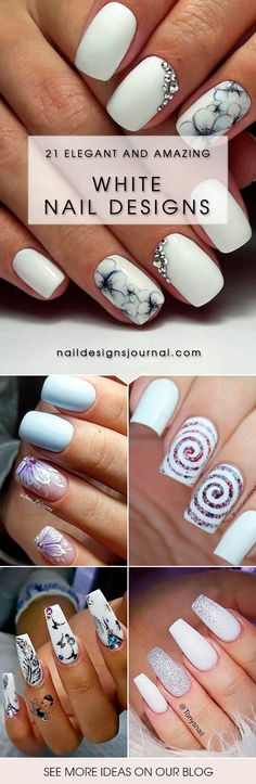 With white nail designs, you will have a posh and classy look. These luxurious nail art ideas are always in fashion.