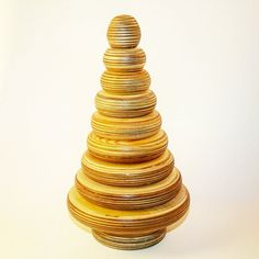 Wood stacking toy plywood stacker toy educational by StuffOfWood
