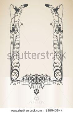 Art deco frame by Sisa Szepe, via ShutterStock