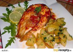 Amur na rajčatech a bílém víně recept - TopRecepty. Chicken Wings, Zucchini, Vines, Treats, Vegetables, Health, Food, Lemon, Sweet Like Candy