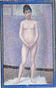 Model to front, Georges Seurat Size: cm Medium: oil on wood Georges Seurat, Moma, Paul Signac, Art History, Modern Art, Contemporary, Art Prints, Artwork, Paris France