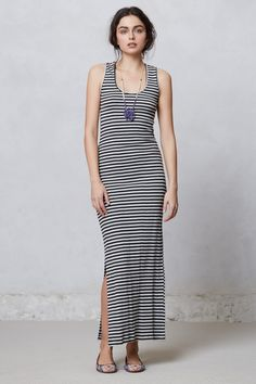 Striped Column Maxi Dress - Anthropologie.com ($118.00???  Really???  I can make it for less than $20!!!)