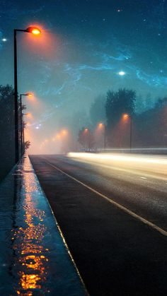 most beautiful roads at night time Trendy Wallpaper, Nature Wallpaper, Wallpaper Backgrounds, Artistic Wallpaper, 8k Wallpaper, Black Wallpaper, Galaxy Wallpaper, Ipad Background, Background Pictures
