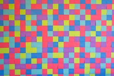 This Colorful Backdrop is Made from Multiple Post-it Notes #DIY #paperproducts trendhunter.com