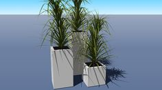 Superline Trend Topper Planter group with Yuca plant - 3D Warehouse